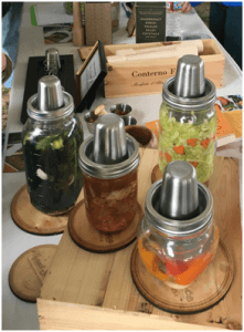 A nicely designed and implemented Mason jar based fermentation system from Kraut Source. This one is all stainless steel with a spring loaded pressure plate to keep your fermenting foodstuffs submerged.