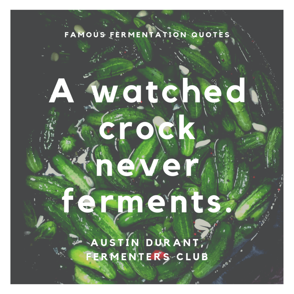 A watched crock never ferments.